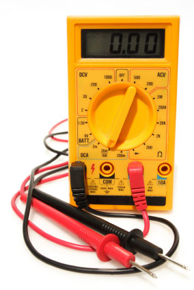 Image on an electrical tester